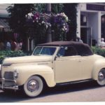 Eric & Carolyn Beeby '40 Plymouth Conv Yellow Rose